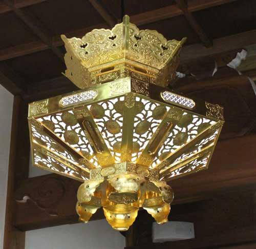 六角菱灯籠 75cm
