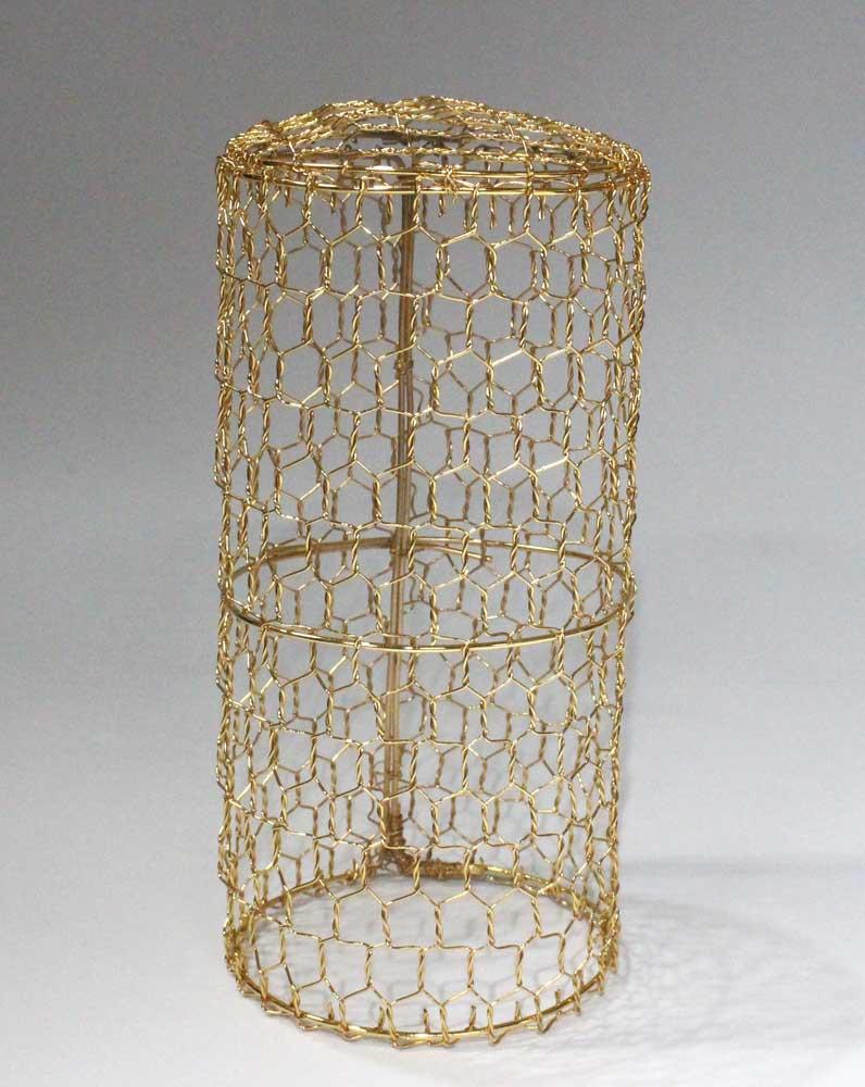 本願寺各派用 伝統的工芸品 金メッキ鉄製金網仏飯覆 小