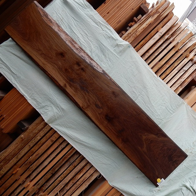 ブラックウォールナット 一枚板 1949 長さ195cm 幅35cm-36cm 厚み2.8cm 木材 銘木 天然木 無垢 テーブル カウンター 棚【送料無料♪】≪R01.12.12UP!!≫