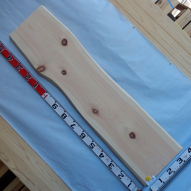 九州産のきれいな一枚物の桧です 桧 一枚板 耳付き 2174 長さ150cm 幅32cm-34cm 大注目 厚み3.1cm 激安通販 天然木 銘木 木材 桧板 無垢 ≪通常商品≫ 送料無料