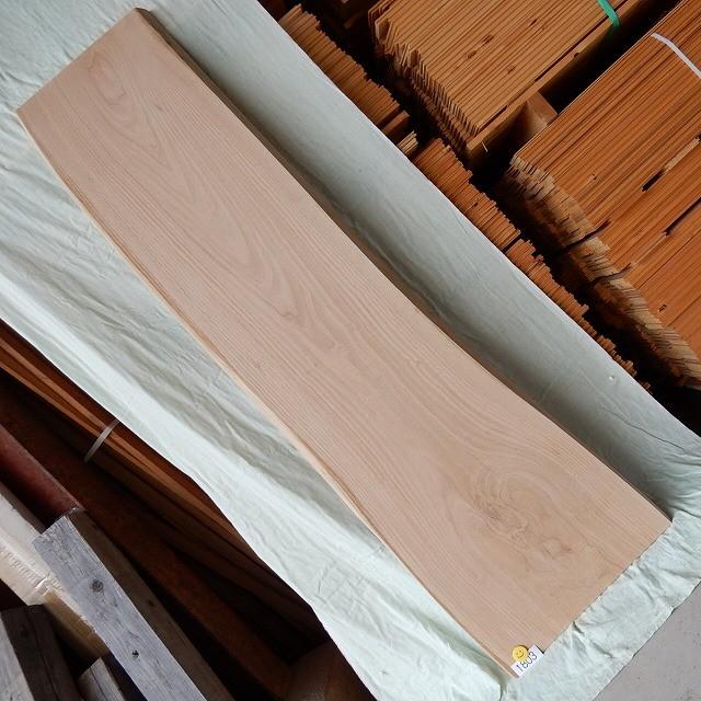 木目の美しいほうをお使いください! 栗 一枚板 1803 長さ160cm 幅33cm-46cm 厚み3.5cm 木材 銘木 天然木 無垢 テーブル カウンター デスク 素材 板 棚【送料無料♪】≪H30.12.01UP!!≫