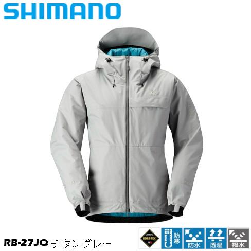 シマノ/SHIMANO RB-27JQ チタングレー 2XL~3XL XEFO GORE-TEX TERRACE Hoody ゴアテックス テラスフーディ