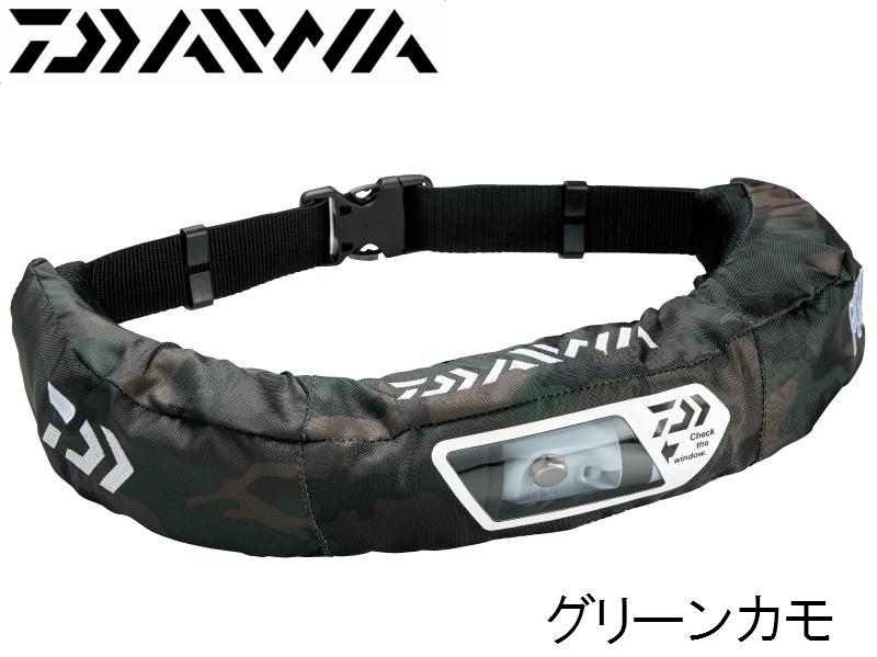 ダイワ/DAIWA DF-2207 ウォッシャブルライフジャケット グリーンカモ (ウエストタイプ手動・自動膨脹式)