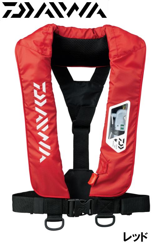 ダイワ/DAIWA DF-2007 ウォッシャブルライフジャケット レッド (肩掛けタイプ手動・自動膨脹式)
