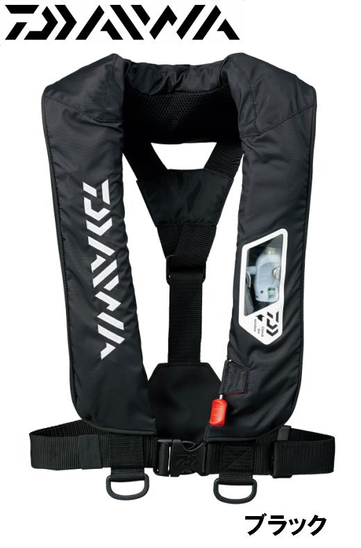 ダイワ/DAIWA DF-2007 ウォッシャブルライフジャケット ブラック (肩掛けタイプ手動・自動膨脹式)