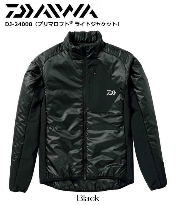 ダイワ/DAIWA DJ-24008 ブラック 2XL プリマロフト ライトジャケット