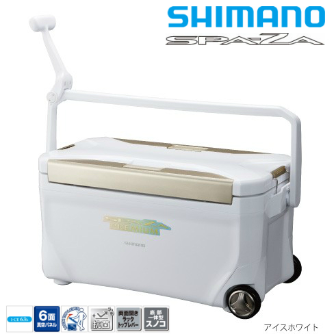 シマノ/SHIMANO ZC-125M スペーザ プレミアム 250キャスター付SPA-ZA PREMIUM 250 (6面真空パネル クーラーボックス)