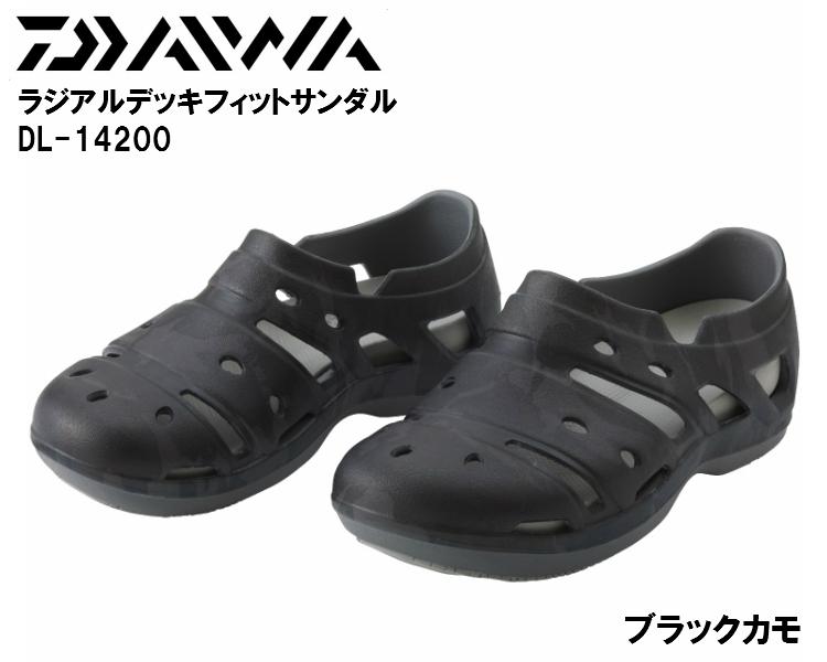 ダイワ/DAIWA DL-14200 ブラックカモ ラジアルデッキフィットサンダル