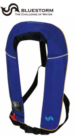 BLUESTORM 膨脹式ライフジャケット 首掛式 BSJ-2520RS(国土交通省型式承認品・TYPE-A)ブルー
