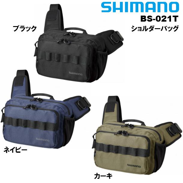 体への安定を高める両サイドのパッド搭載のショルダーバッグ シマノ SHIMANO ショルダーバッグ BS-021T 驚きの価格が実現 お見舞い 10×32×22cm