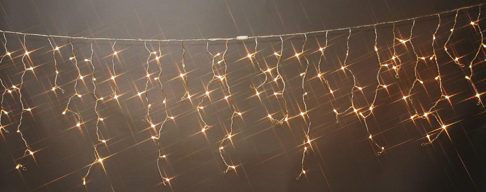 コントローラー付き120球 電球色 点滅LEDイルミネーションライト/点滅/防雨つららLEDイルミネーションライト 電球色/シルバーコード/コネクター付/(クロスライセンス品)