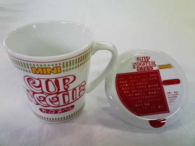 Nissin Cup noodle handle with lid Cup noodle style mug P06Dec14