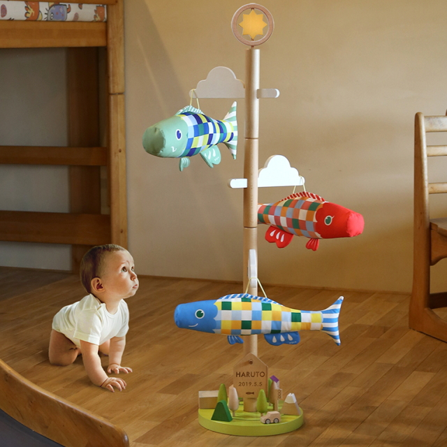 【子守唄CDプレゼント】室内 こいのぼりさわって遊べるPucaプーカの木セット鯉のぼり(徳永鯉)鯉のぼり 鯉幟