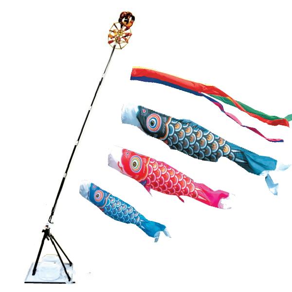 【子守唄CDプレゼント】ゴールド鯉 2mプレミアムスタンドセット(こいのぼりベランダ)(徳永鯉)鯉のぼり 鯉幟