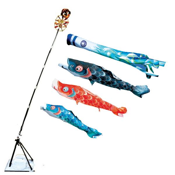【子守唄CDプレゼント】風舞い2mプレミアムスタンドセット(撥水加工)( こいのぼりマンション)鯉のぼり 鯉幟