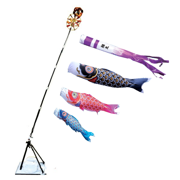【子守唄CDプレゼント】大翔 1.5mプレミアムスタンドセット (こいのぼりベランダ)(徳永鯉)鯉のぼり 鯉幟