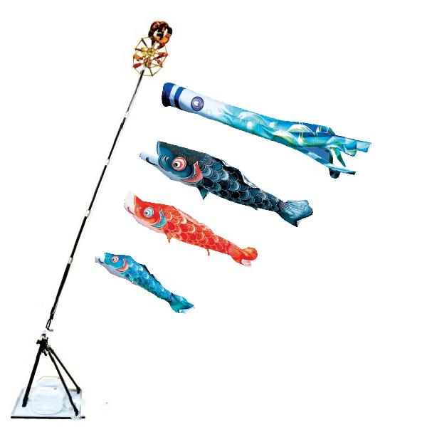 【子守唄CDプレゼント】風舞い1.2mプレミアムスタンドセット(撥水加工)( こいのぼりマンション)鯉のぼり 鯉幟