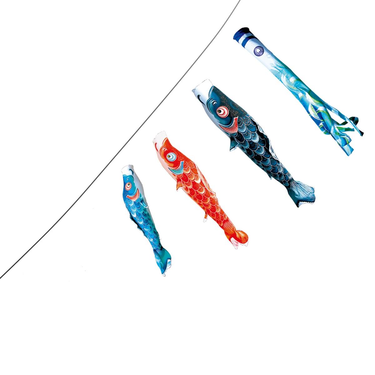 【子守唄CDプレゼント】風舞い(撥水加工)スーパーロイヤルベランダ1.2mセット(こいのぼり マンション)【鯉のぼり・こいのぼり】鯉のぼり 鯉幟