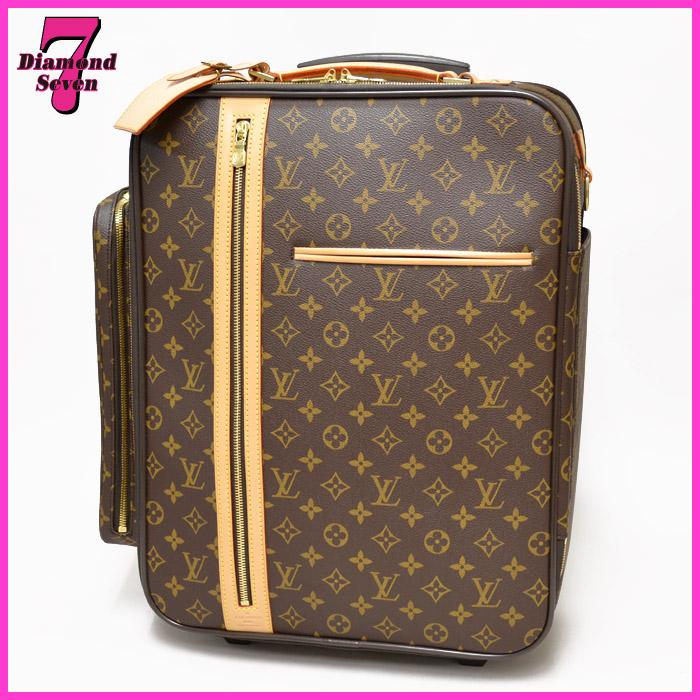 【送料無料】【中古】【美品】Louis Vuitton トロリー50 ボスフォール モノグラム キャリーバッグ スーツケース 旅行鞄 ユニセックス ルイヴィトン *k932*
