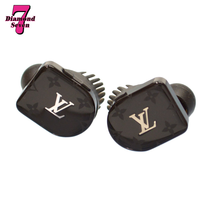 【中古】【美品】Louis Vuitton ホライゾン ブラック モノグラム イヤホン Bluetooth ワイヤレスイヤホン QAB010 *k932*