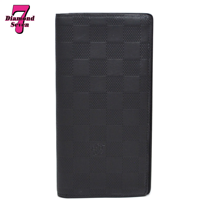 【中古】Louis Vuitton ポルトフォイユ・ブラザ アンフィニ オニキス ブラック N63010 メンズ *k932*