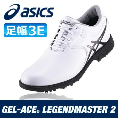 asics [アシックス] GEL-ACE LEGENDMASTER 2 メンズ ゴルフ シューズ TGN918 ホワイト/ガンメタル
