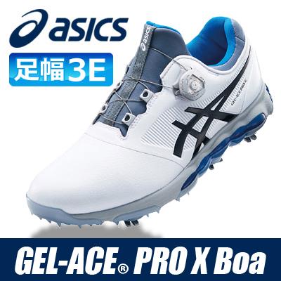 asics [アシックス] GEL-ACE PRO X Boa メンズ ゴルフ シューズ TGN922 ホワイト/ファントム