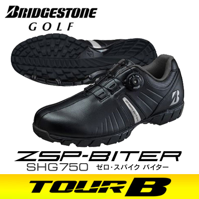 BRIDGESTONE GOLF [ブリヂストン ゴルフ] ゼロ・スパイク バイター メンズ スパイクレス シューズ SHG750 BK