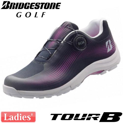 BRIDGESTONE GOLF [ブリヂストン ゴルフ] レディース TOUR B ゼロ・スパイク バイター メッシュ シューズ SHG910 [BK]