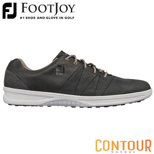 FOOTJOY [フットジョイ] CONTOUR CASUAL [コンツアー カジュアル] 2019 ゴルフシューズ 54072 チャコール 【W/足幅3E】