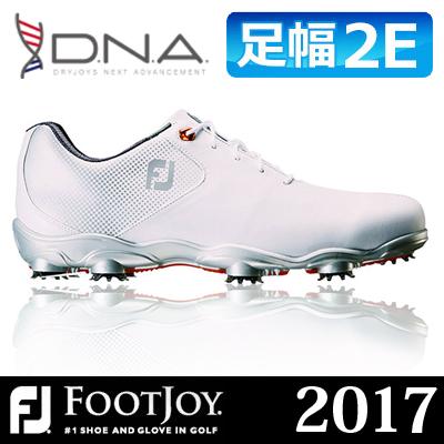 FOOTJOY [フットジョイ] D.N.A [ディーエヌエー] メンズ ゴルフシューズ 53328 ホワイト/シルバー