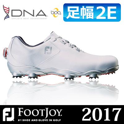 【ゲリラセール開催中】FOOTJOY(フットジョイ) D.N.A Boa 2017 メンズ ゴルフシューズ 53330 ホワイト/シルバー (W) ***