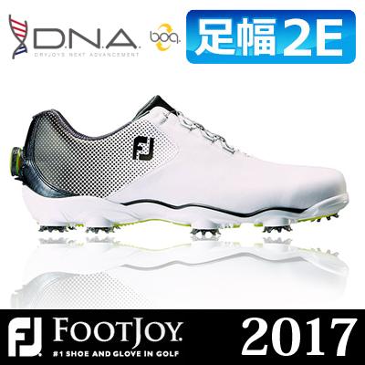 FOOTJOY [フットジョイ] D.N.A Boa [ディーエヌエー ボア] メンズ ゴルフシューズ 53332 ホワイト/ブラック