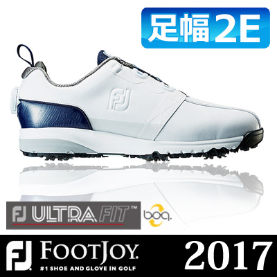 FOOTJOY [フットジョイ] FJ ULTRA FIT Boa メンズ ゴルフシューズ 54141 ホワイト/ネイビー (W)