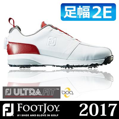 FOOTJOY [フットジョイ] FJ ULTRA FIT Boa メンズ ゴルフシューズ 54143 ホワイト/レッド (W)