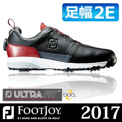 FOOTJOY [フットジョイ] FJ ULTRA FIT Boa メンズ ゴルフシューズ 54146 ブラック/レッド (W)