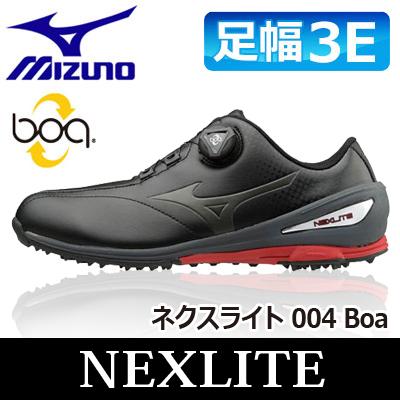 MIZUNO [ミズノ] NEXLITE [ネクスライト] 004 Boa メンズ ゴルフ スパイクレス シューズ 51GM1720 ブラック/レッド