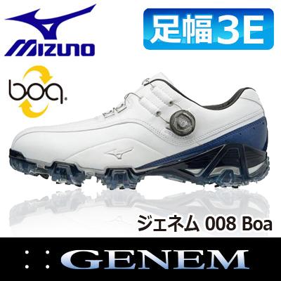 MIZUNO [ミズノ] GENEM [ジェネム] 008 Boa メンズ ゴルフ シューズ 51GM1800 ホワイト/ブルー