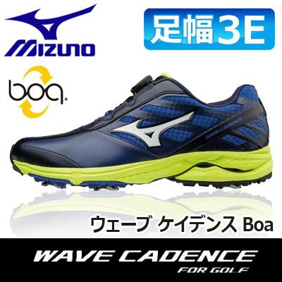 MIZUNO [ミズノ] WAVE CADENCE [ウェーブ ケイデンス] Boa メンズ ゴルフ シューズ 51GM1870 ブルー/ライム