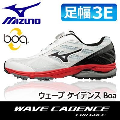 MIZUNO [ミズノ] WAVE CADENCE [ウェーブ ケイデンス] Boa メンズ ゴルフ シューズ 51GM1870 ホワイト/ブラック