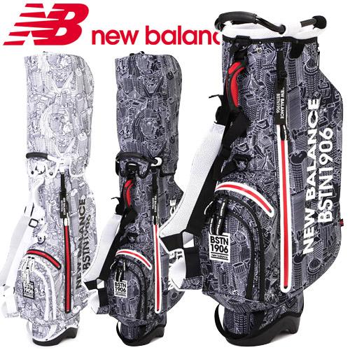NEW BALANCE GOLF [ニューバランス ゴルフ] ユニセックス ボストンシティプリント スタンド式 キャディバッグ 012-8280004