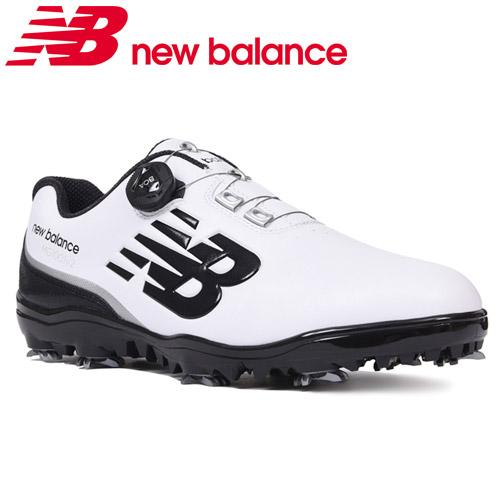 NEW BALANCE GOLF [ニューバランス ゴルフ]スパイク BOA ゴルフシューズ [ホワイト/ブラック] MG1001V2 W2