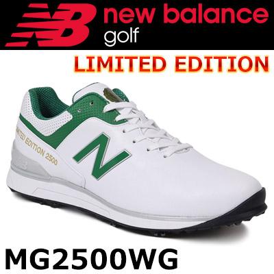 【即納】 NEW BALANCE GOLF [ニューバランス ゴルフ]ソフトスパイク シューレース ゴルフシューズ [ホワイト/グリーン] MG2500