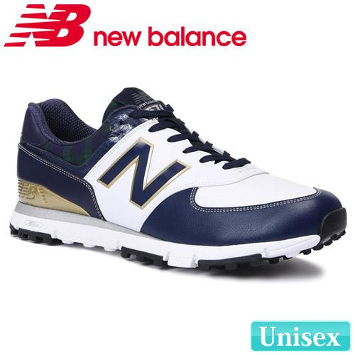 【即納】 NEW BALANCE GOLF [ニューバランス ゴルフ]ユニセックス D スパイクレス シューレース ゴルフシューズ [ネイビー] MGS574
