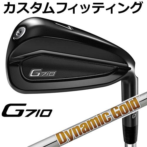 【カスタムフィッティング】 PING [ピン] G710 アイアン 5本セット (6I~9I、PW) Dynamic Gold スチール [日本正規品]