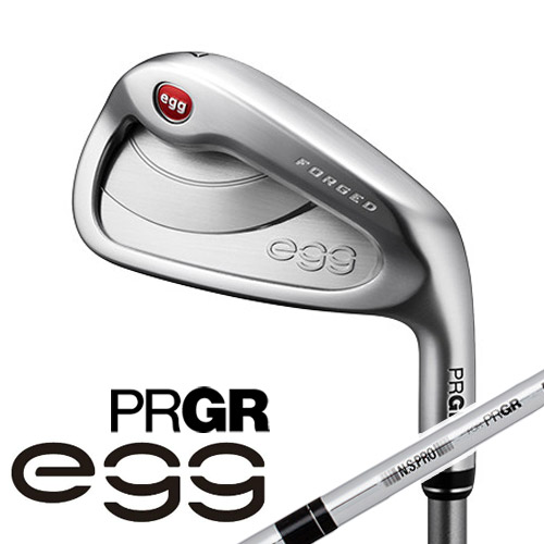 PRGR [プロギア] NEW egg FORGED アイアン 4本セット (#7~#9、P) SOFT STEEL スチールシャフト