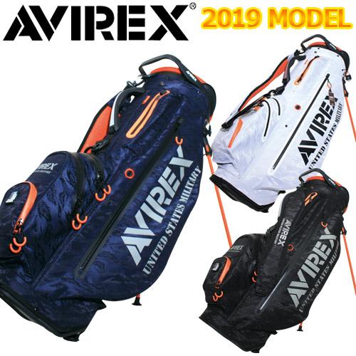 2019年モデル!スタンドタイプのキャディバッグ! AVIREX [アヴィレックス] スタンド キャディバッグ 19SS-SA1