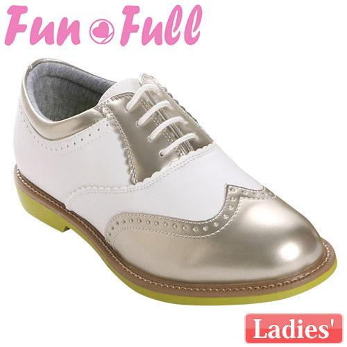 【訳あり品】 FunFull [ファンフル] スパイクレス レディース ゴルフシューズ FUN200 [ゴールド]