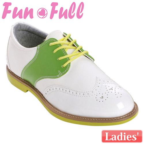 【訳あり品】 FunFull [ファンフル] スパイクレス レディース ゴルフシューズ FUN100 [ライトグリーン]