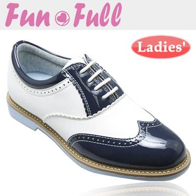 FunFull [ファンフル] スパイクレス レディース ゴルフシューズ FUN200 [ネイビー]